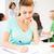 estudante · menina · caderno · calculadora · educação · faculdade - foto stock © dolgachov