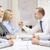 empresária · empresário · queda · de · braço · negócio · escritório · reunião - foto stock © dolgachov