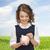 glimlachend · meisje · munt · spaarvarken · onderwijs · familie - stockfoto © dolgachov