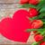 тюльпаны · сердце · приветствие - Сток-фото © dolgachov