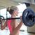 若い女性 · 筋肉 · バーベル · ジム · スポーツ · フィットネス - ストックフォト © dolgachov