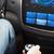 kéz · hangerő · autó · audio · sztereó · szállítás - stock fotó © dolgachov