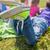 csoport · gyerekek · pléd · borító · kint · nyár - stock fotó © dolgachov
