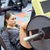 kadın · kaslar · bacak · basın · makine · spor · salonu - stok fotoğraf © dolgachov