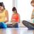 gelukkig · zwangere · vrouwen · yoga · gymnasium - stockfoto © dolgachov