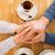 Pareja · tomados · de · las · manos · restaurante · personas · amor - foto stock © dolgachov