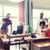 gelukkig · creatieve · team · tonen · kantoor - stockfoto © dolgachov