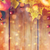 frame of autumn leaves fruits and berries on wood stock photo © dolgachov
