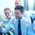 sorridente · pessoas · de · negócios · marcador · adesivos · trabalho · em · equipe · planejamento - foto stock © dolgachov