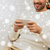 smiling man with smartphone at home for christmas stock photo © dolgachov