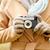 vrouw · camera · schieten · buitenshuis · fotografie - stockfoto © dolgachov