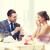 男 · ガールフレンド · レストラン · カップル · 休日 · 笑みを浮かべて - ストックフォト © dolgachov