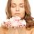 woman with rose petals stock photo © dolgachov