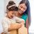 mutlu · anne · çocuk · kız · hediye · kutusu · tatil - stok fotoğraf © dolgachov