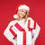 nő · mikulás · segítő · kalap · sok · ajándékdobozok - stock fotó © dolgachov