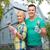 boldog · pár · lakásfelújítás · tart · festmény · szerszámok - stock fotó © dolgachov