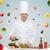 szef · gotować · Sałatka · żywności · pracy · metal - zdjęcia stock © dolgachov