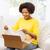 felice · african · pacchetto · finestra · home - foto d'archivio © dolgachov