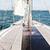 close up of sailboat or sailing yacht deck and sea stock photo © dolgachov