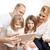 família · feliz · cartão · de · crédito · família · férias · compras - foto stock © dolgachov