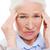 лице · старший · женщину · страдание · головная · боль - Сток-фото © dolgachov