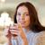 mulher · jovem · potável · chá · café · mulher · compras - foto stock © dolgachov