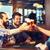 mutlu · erkek · arkadaşlar · içme · bira · bar - stok fotoğraf © dolgachov