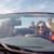 felice · uomo · donna · guida · cabriolet · auto - foto d'archivio © dolgachov