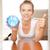 счастливым · улыбаясь · часы · фотография · женщину - Сток-фото © dolgachov
