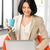 kobieta · pracy · blogging · ministerstwo · spraw · wewnętrznych · biuro · uśmiech - zdjęcia stock © dolgachov