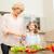 gelukkig · gezin · diner · keuken · voedsel · familie - stockfoto © dolgachov