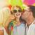 family with colorful balloons stock photo © dolgachov