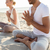 casal · ioga · ao · ar · livre · fitness - foto stock © dolgachov