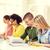 diákok · tankönyvek · könyvek · iskola · oktatás · öt - stock fotó © dolgachov