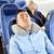 adam · uyku · seyahat · otobüs · yastık · taşıma - stok fotoğraf © dolgachov