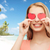 glimlachend · jonge · vrouw · kajakken · zee · gelukkig · zomer - stockfoto © dolgachov