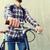adam · sabit · dişli · bisiklet · sırt · çantası - stok fotoğraf © dolgachov