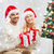 happy couple at home with christmas gift boxes stock photo © dolgachov