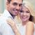 comprometido · casal · jovem · feliz · raso · campo - foto stock © dolgachov