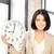 zakenvrouw · klok · heldere · foto · aantrekkelijk · vrouw - stockfoto © dolgachov