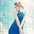 bastante · de · moda · femenino · moderna · vestido · posando - foto stock © dolgachov