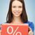 vrouwelijke · handen · groot · geschenkdoos · meisje · winkelen - stockfoto © dolgachov