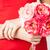 buket · taze · çiçekler · eller · gelin - stok fotoğraf © dolgachov