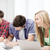 students writing test or exam in lecture at school stock photo © dolgachov