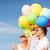 szczęśliwą · rodzinę · kolorowy · balony · odkryty · lata · wakacje - zdjęcia stock © dolgachov