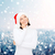 álmodik · lány · mikulás · segítő · kalap · karácsony - stock fotó © dolgachov