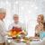 christmas · gans · diner · vers · fruit · salie · geserveerd - stockfoto © dolgachov