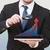 бизнеса · аналитика · статистика · увеличительное · стекло · бизнесмен - Сток-фото © dolgachov