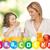 güzel · çocuk · anne · yoğurt · yeme - stok fotoğraf © dolgachov
