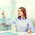 vrouw · werken · denkbeeldig · virtueel · scherm · business - stockfoto © dolgachov